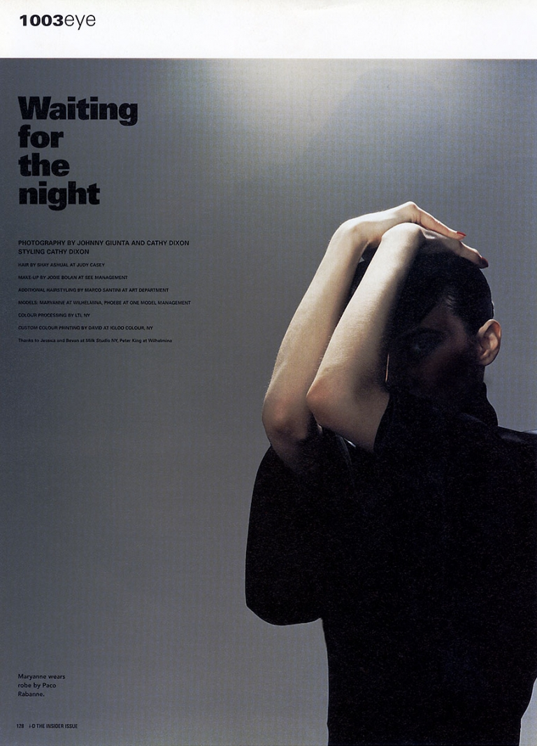 JOHNNY GIUNTA i-D Mag: Waiting For The Night