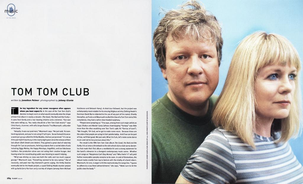 JOHNNY GIUNTA Flaunt Magazine: Tom Tom Club
